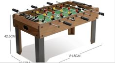 214.00$  Buy now - http://alis4p.worldwells.pw/go.php?t=32759612395 - Genuine counter children desktop table football machine sports parent - child game large six - pole football