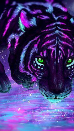 Cute Cartoon Animals, Anime Animals, Cute Baby Animals, Cute Fantasy Creatures, Mythical Creatures Art, Big Cats Art, Cat Art, Cute Animal Drawings, Cute Drawings