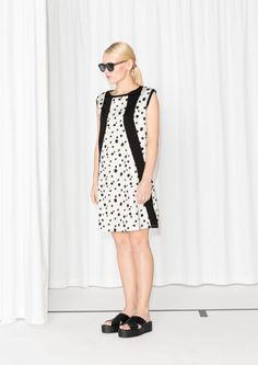 & Other Stories | Dalmatian Jersey Dress | White