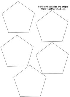 pentagon template pattern | Homeschool Helper Online's Free Pentagon Book Lapbooking Template
