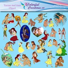 20 % OFF SALE Tarzan and Jane Digital Clipart, Tarzan images, Movie designs, kids printable, instant download, Personal & Commercial Use Yoda Images, Tarzan And Jane, Business Stationary, Best Masks, Star Wars Characters, Photoshop Elements, Cool Things To Make, Scrapbook Paper, Crafts For Kids
