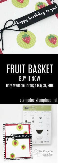 The Fruit Basket Photopolymer Bundle is retiring soon. Get yours before it's gone!