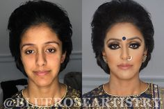 Indian   Bollywood   South Asian Bridal Makeup - Start To Finish @Bluero...