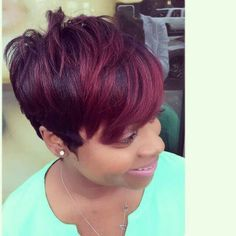 Tapered short hair  & color!