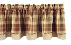 "Park Designs ""Saffron"" Country Lined Layer Valance,72"" Wide x 16"" Long Park Designs http://www.amazon.com/dp/B001Z0EVUE/ref=cm_sw_r_pi_dp_ruOSwb1B6BJ5T"
