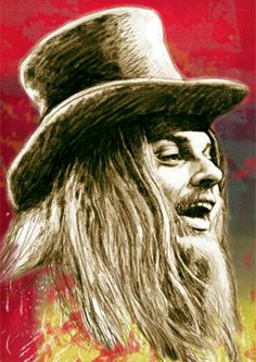 Leon Russell Pop Ar Mexmedia Drawing Print by Visualharbour, $10.00