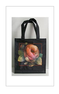 Rose tote with design by Mary Jo Leisure, $20 from National Museum of Decorative Painting