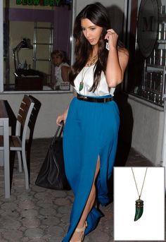 Soixante Neuf Crackle Horn Necklace - as seen on Kim Kardashian