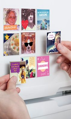 Take pictures of your kids school projects, friends, sporting events, etc. then create fun magnets adding text and elements to your favorite photos! Kids would love seeing these magnets displayed. Diy Projects To Try, Craft Projects, School Projects, Crafts For Teens, Fun Crafts, Cute Gifts, Diy Gifts, Christmas Fun, Xmas