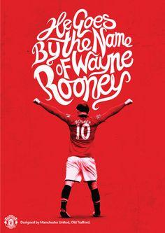 Wayne Rooney poster, designed by @manutd.