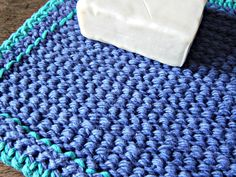 Use Tunisian Simple Stitch to create the best crochet washcloth you've ever used!