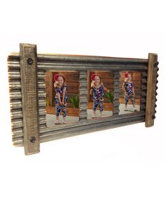 Look at this Smoky Tin Corrugated Metal Triple Wall Frame on #zulily today! Barn Wood Crafts, Barn Wood Projects, Metal Crafts, Diy Wood Projects, Cadre Photo Diy, Corrugated Tin, Tin Art, Rustic Frames, Metal Roof