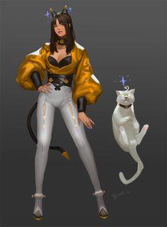 kitty, DanDan Liu on ArtStation at https://www.artstation.com/artwork/q2nGe