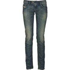 Diesel Jean Nevy Bleu ($130) ❤ liked on Polyvore featuring jeans, pants, bottoms, pantalones, women, slim fit jeans, slim skinny jeans, diesel skinny jeans, tapered jeans and skinny tapered jeans