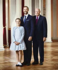 royalwatcher:  The Norwegian Royal Court released new photos of the Royal Family, 2016-Three Generations:  Princess Ingrid Alexandra, Crown Prince Haakon, and King Harald