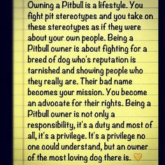 Owning a Pitbull is a lifestyle!