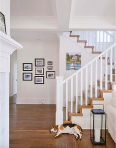 Electic hall with stairs  Builder: Rockridge Fine Homes  Photography: Jason Brown