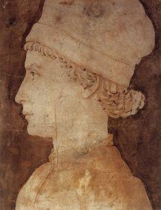 Atlante dell'arte italiana Maso Finiguerra (1426-64), Profile portrait of a young man, Istituto Nazionale della Grafica, Roma