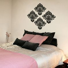 #autocollants #decalques #wallstickers #decals Damask.  $27.95