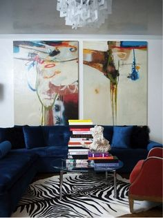 home interior - living room..I want bright bold colors in our home