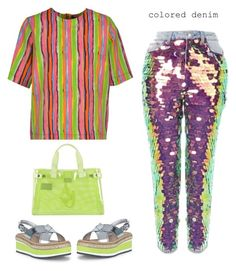 """Mom Jeans 😬"" by musicfriend1 ❤ liked on Polyvore featuring Topshop, MARCOBOLOGNA, Prada and Armani Jeans"