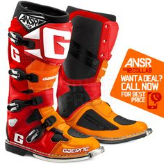 2016 Gaerne Boots - Ltd Edition Answer Collab Orange Red Motocross Gear, Bmx, Mx Boots, High Top Sneakers, Sneakers Nike, Bike Clothing, Riding Gear, Dirtbikes, Motorcycle Boots