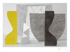 Jan Hardisty - Strong Yellow and Folded Paper