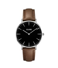 Cluse La Boheme Gold Black/Black Womens Watch - New w Tags & Orig. Black And Gold Watch, Black Leather Watch, Gold Leather, Leather Jewelry, Brown Leather, Rose Watch, Pink Watch, Grey Watch, Mesh Armband