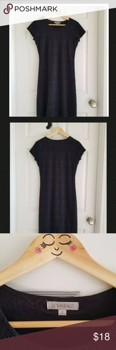 """EUC MODCLOTH Downeast Black Crochet Dress Size 8 EUC MODCLOTH Downeast Black Crochet Dress. Size 8. Slip on dress with lining. Approx measurements 15"""" bust, 37"""" length (shoulder to hem). Can dress up for an event (I purchased for a 1920s fling) or down for work. Versatile piece! Note pic 7 & 8 are from MODCLOTH and not actual dress. ModCloth Dresses"""