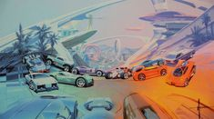 Hot Wheels Illustration by Syd Mead