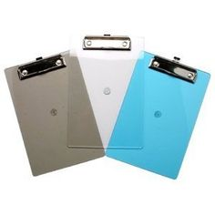 Tiger clipboard assorted clear iMac colours x 1 single by OfficeLand