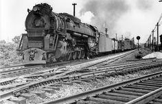 locomotoras a vapor grandes, el C & O 600 ton 2-6-6-6 Alleghany. Foto perteneciente a la colección de Jay Williams.