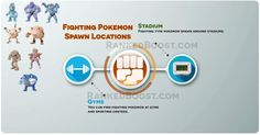 fighting pokemon spawn locations