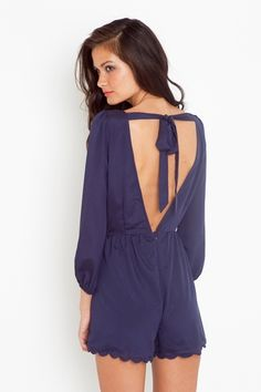 Not a huge fan of rompers, but this back with a thick chestnut belt & chunky sandals would be perf.