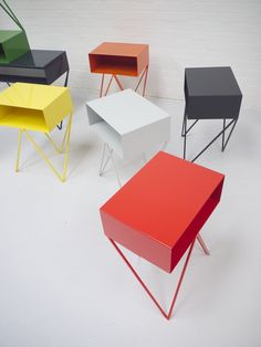 Image of Robot side table in red