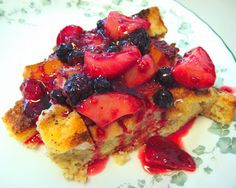 Overnight French Toast Bake with Berry Topping - Real Mom Kitchen