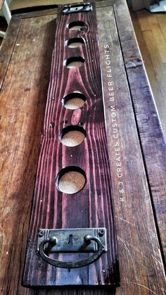 K & J Creates Custom Wooden Pallet Beer Flight Home Decor Bar Decor Restaurant Decor