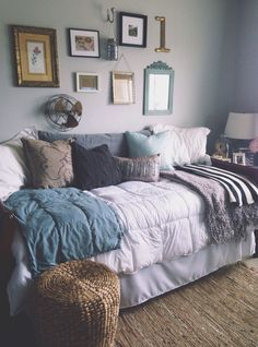I love these COLORS for bedroom!! It's cozy, grown-up, laid-back, and sophisticated all at the same time.