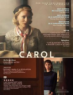 #Carol #Cate blanchett #Rooney mara