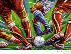 Fußball - Kunst - Illustration