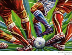 I'm no fan of football, but this Illustrations by Evgeny Parfenov is amazing