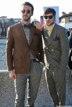 Pitti Uomo 81 Streetstyle Mens Fashion...notice the pleats....liking this look from the 90's