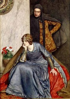 The artwork Doubt - Sir James Dromgole Linton we deliver as art print on canvas, poster, plate or finest hand made paper. Dante Gabriel Rossetti, John Everett Millais, Pre Raphaelite Brotherhood, Romanticism, Renaissance Art, Old Master, Middle Ages, Old World, Les Oeuvres