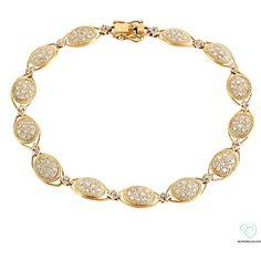 10k Yellow Gold Diamond Pave Bracelet - Jewelry via Polyvore