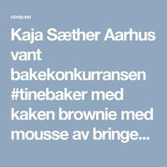 Kaja Sæther Aarhus vant bakekonkurransen #tinebaker med kaken brownie med mousse av bringebær. Her får du oppskriften på brownie med bringebær.
