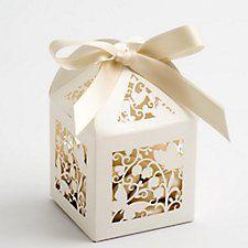 Filigrane Schmetterling Geschenkschachteln, auch in weiß erhältlich.
