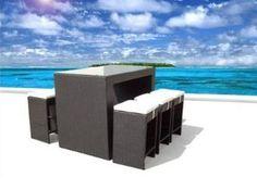 Amazon.com: Outdoor Wicker Patio Furniture New Resin 7-Piece Bar Dining Table & Barstool Set: Patio, Lawn & Garden