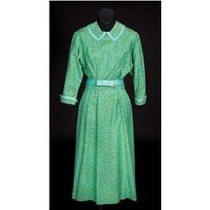 """Julie Andrews """"Maria"""" turquoise and green dress from Sound of Music. (TCF, 1965) (Sold for over 55 thousand dollars at the Debbie Reynolds Auction 6/18/2011)"""