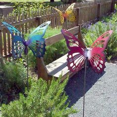 Perfect Large Metal Butterfly Garden Sculpture/Stake