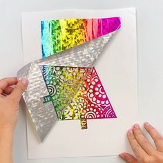 Learn how to use transfer foils and a laminator to make your own foil art prints. This article will tell you the supplies you need to make foil art. Art And Craft Videos, Easy Arts And Crafts, Crafts For Girls, Cute Crafts, Creative Crafts, Diy Crafts, Dollar Store Crafts, Crafts To Sell, Feuille Aluminium Art